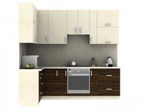 Кухня угловая(маракас) с комбинироавными фасадами - фото №2