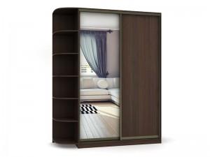Шкаф-купе с радиусными полками(одна дверь зеркальная) - фото №5