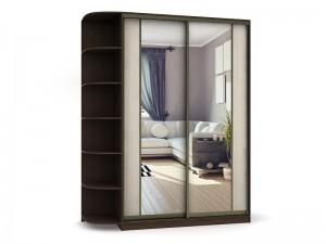 Шкаф-купе с радиусными полками(комбинированные зеркальные двери ) - фото №3