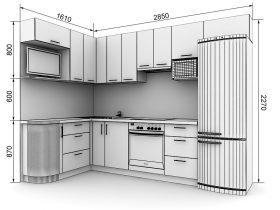 Кухня с размерами — проекты - фото №4