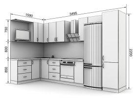 Кухня с размерами — проекты - фото №5