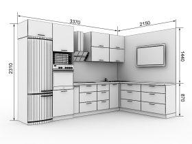 Кухня с размерами — проекты - фото №6