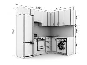 Кухня с размерами — проекты - фото №7