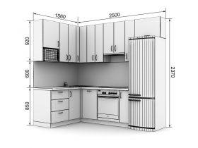 Кухня с размерами — проекты - фото №8