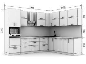 Кухня с размерами — проекты - фото №12