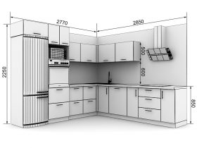 Кухня с размерами — проекты - фото №14