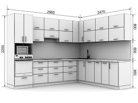 Кухня с размерами — проекты - фото №15